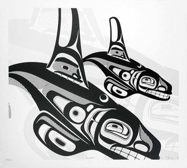 Brothers ~ Alano Edzerza, Tahitan Nation  Quintana Galleries: Northwest Coast Prints