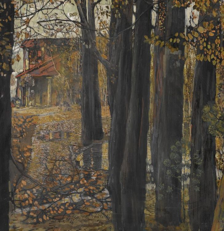 Isaak Izrailevich Brodsky 1883 - 1939 AUTUMN LANDSCAPE 1907