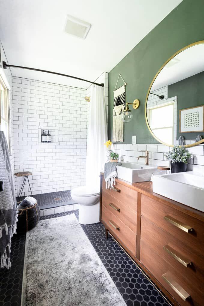 making some modern bathroom updates blogs bright green door rh pinterest com