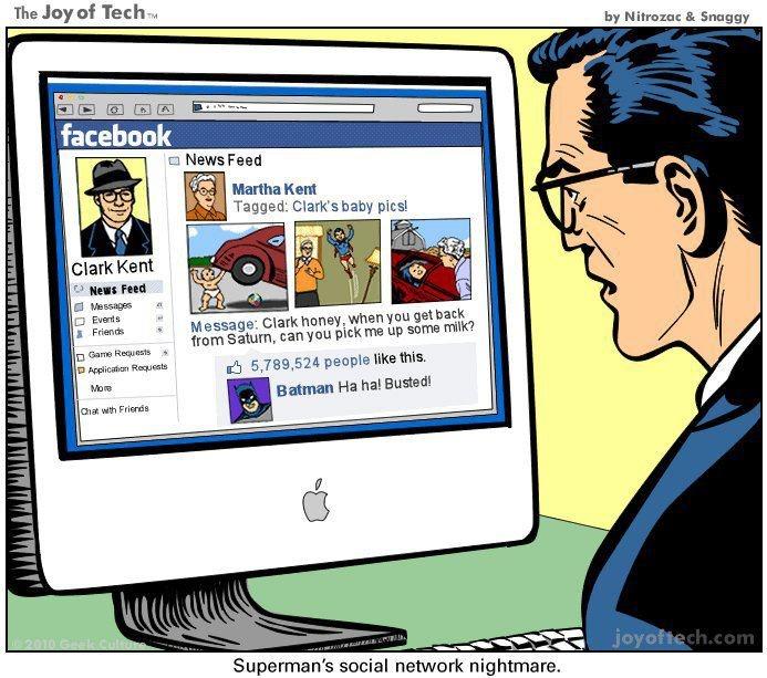 Superman on fb ?