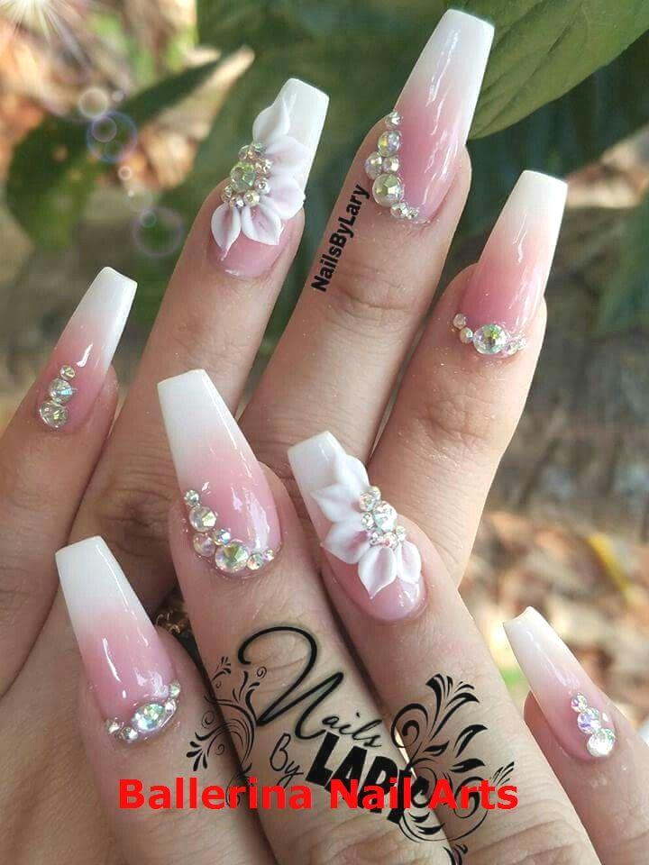 Angesagte Designs in Ballerina nails #naildesign #ballerinanail