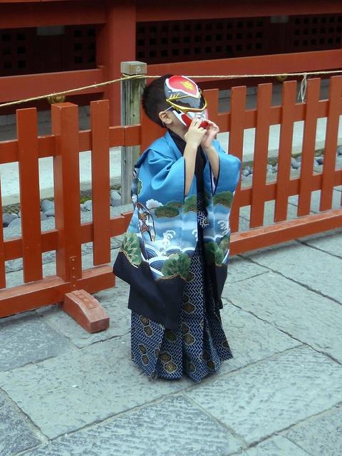 boy - '7-5-3' Festival (七五三) Shichigosan - Tsurugaoka Hachiman-gū Shinto temple (鶴岡八幡宮) Kamakura