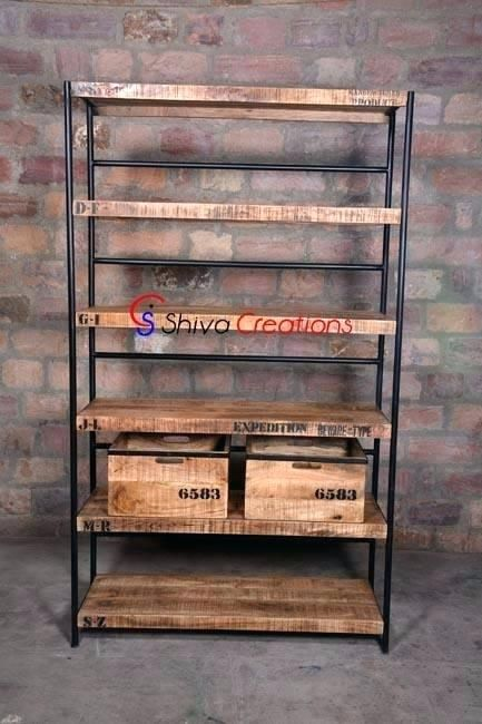image result for metal and wood bookshelf things i like wood rh pinterest com