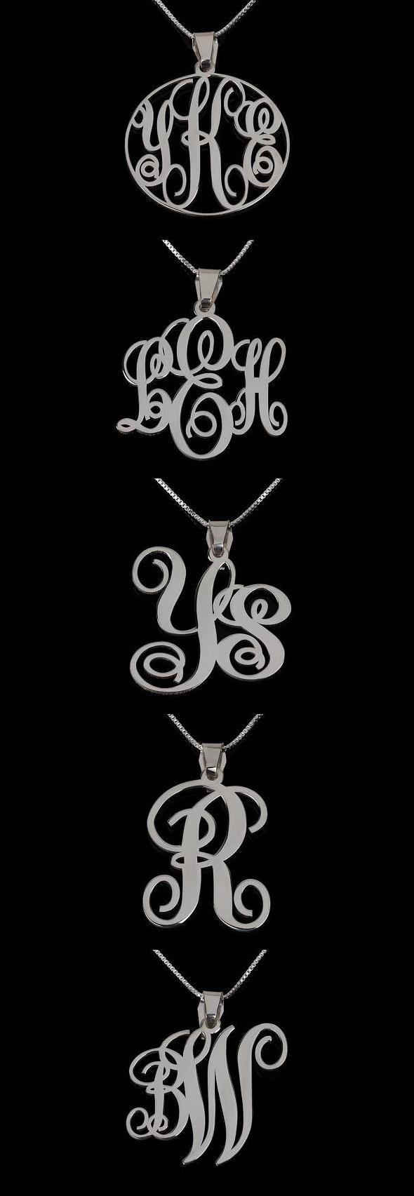 Fashionable Monogram Necklaces