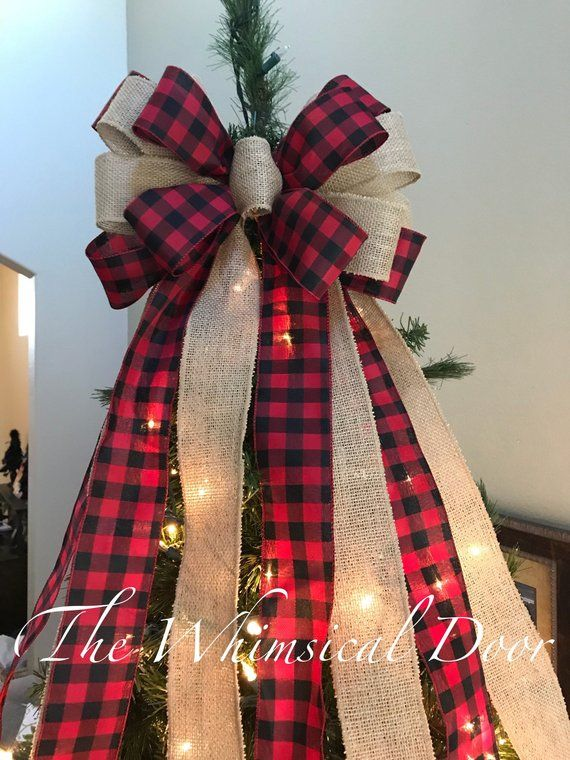Shop Spotlight The Whimsical Door Christmas Tree Topper Bow Christmas Tree Bows Christmas Tree Shop