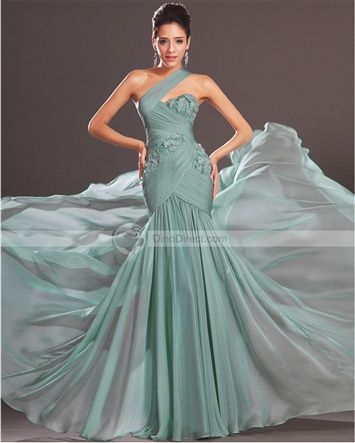 Amylinda™ Chiffon Mermaid Evening Dress