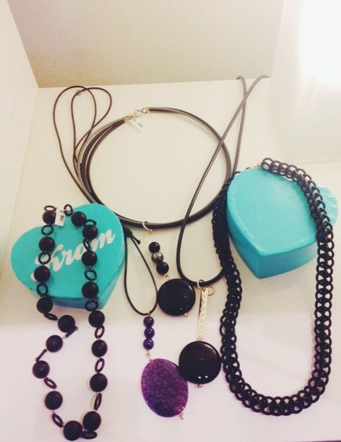 Some rubber and semi-precious necklaces from your favorite Swedish jeweler, Magnani. :)