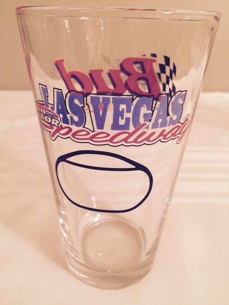 BUDWEISER BEER PINIT GLASS, NASCAR LAS VEGAS SPEEDWAY