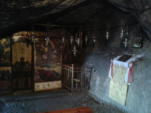 Isle of Patmos Cave (reportedly) where John had Revelation given and wrote what God gave him.