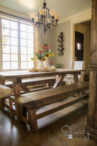 4x4 Truss Benches    DIY dining table benches for $40/each!