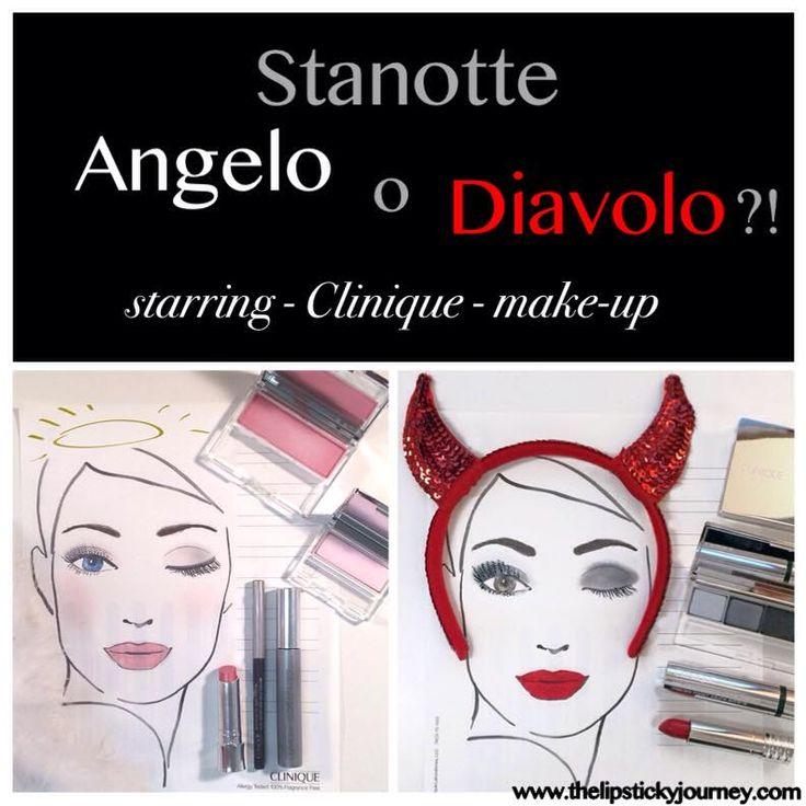 Angelo o Diavolo?! Prendi ispirazione per la notte di Halloween dal Makeup Clinique! #makeup #halloween #tutorial #clinique #beautyblog #angeldevils