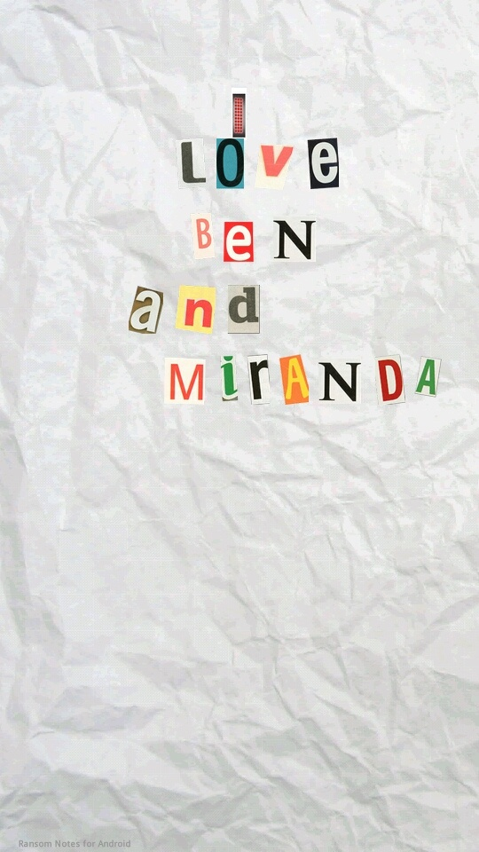 Ransom note :) lol