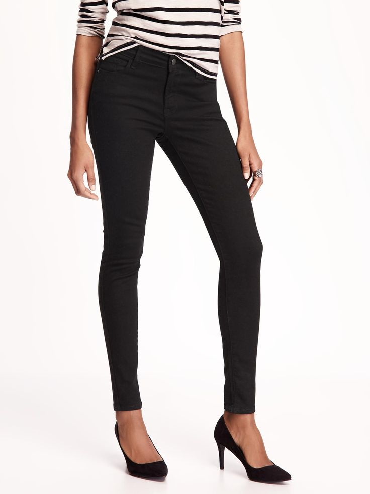 Mid-Rise Built-In-Sculpt Rockstar Jeans for Women   Old Navy
