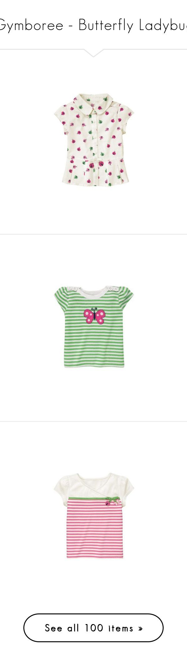 """""""Gymboree - Butterfly Ladybug"""" by baby-outfits ❤ liked on Polyvore featuring garden friends, girls, gymboree garden friends, butterflies, gymboree, spring, garden party, baby, kids and tops"""