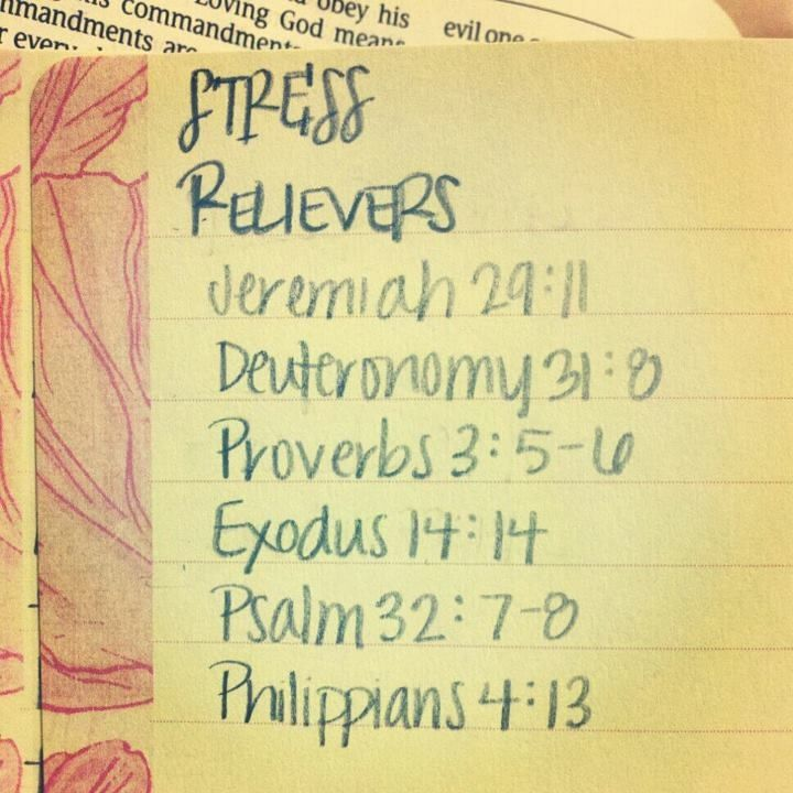 Bible Quotes About Anxiety And Stress: Stress Reliving Bible Verses. For Finals