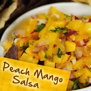 Hispanic Diabetes Recipes: Peach Mango Salsa