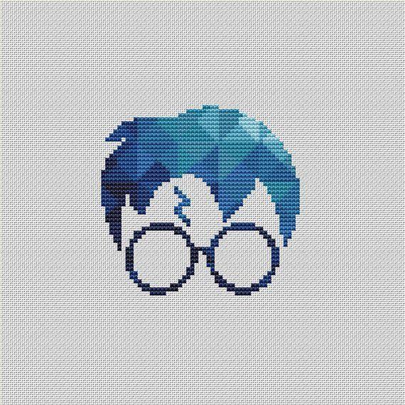 Harry Potter Cross Stitch Pattern Hogwarts Geometric Polygonal