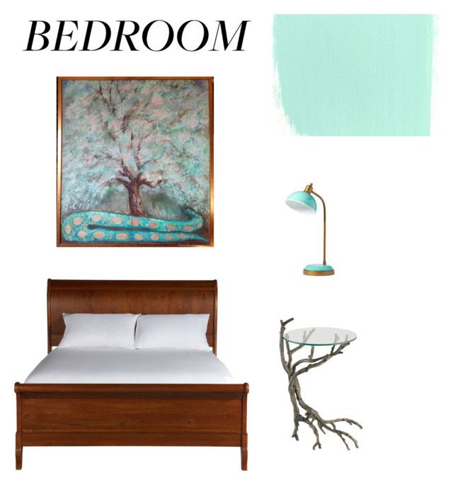"""Paradise tree"" by canisartstudio on Polyvore featuring interior, interiors, interior design, dom, home decor, interior decorating, PBteen, Ethan Allen i bedroom"