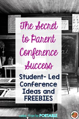 This is such a great post about student led conferences with freebies included too!