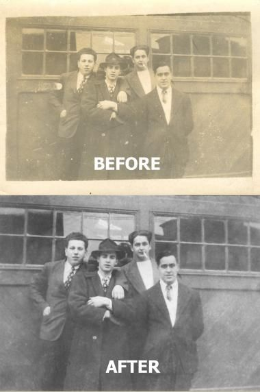 Restoring old family photos