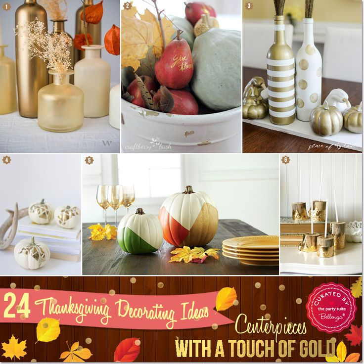 craft ideas for wedding place cards%0A    Ideas for Thanksgiving Decorations with a Touch of Gold