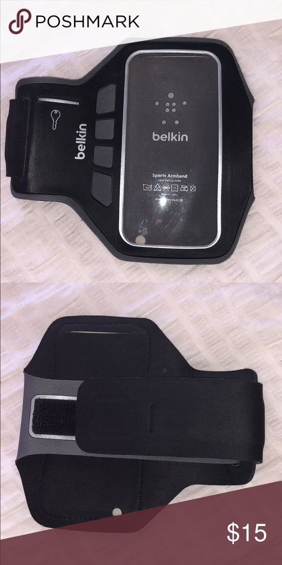 Belkin Sports Armband New w/out Tags.  Black workout armband. Adjustable strap. Key holder. East phone access with headphone jack. Ensures your phone stays secure while you workout. Super comfortable. Belkin Accessories Phone Cases