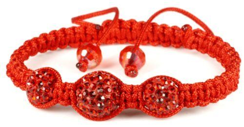 Luos Handmade 3 Red Feng Shui Crystal Ball Red String Bracelet - St053 Luos Cultural Goods. $6.96. one size fits all ; adjustable string tied. for general good luck. handmade string bracelet