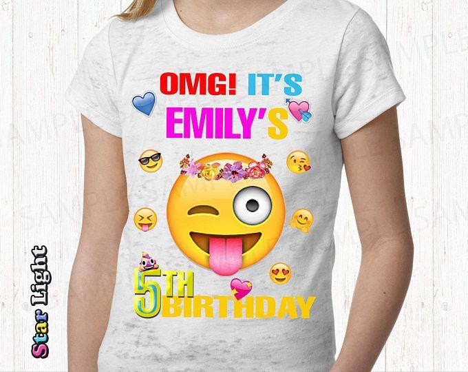 Emoji Personalized Iron On Transfer. Emoji Birthday Shirt Iron On Transfer. Emoji Borthday Boy Iron On Transfer. Digital File