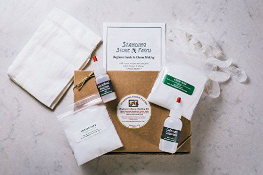 Standing Stone Farms Basic Beginner Cheese Making Kit - Mozzarella, Burrata, Burricota, Chevre, Ricotta, Marscapone & Butter! Cheese making is a science, and this is a great first step to learning it.