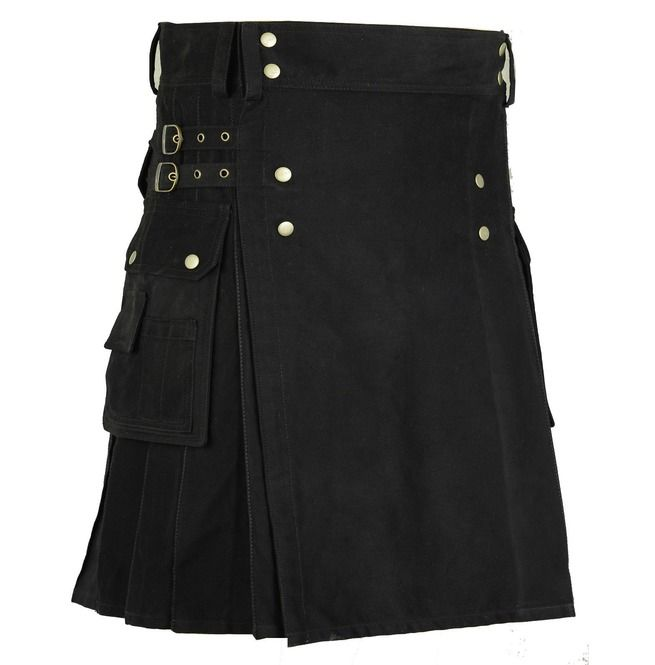 rebelsmarket_handmade_cotton_gothic_kilt_for_men_with_cargo_pockets_black_utility_kilt_shorts_and_capris_4.jpg