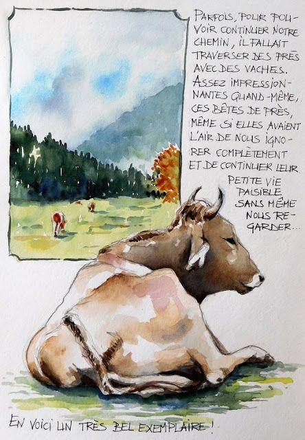 BB-Aquarelle: Histoire de vaches / About cows...