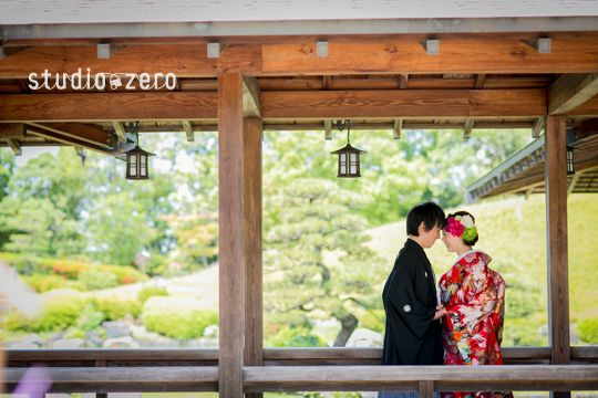 大阪・大仙公園ロケーション 和装前撮り 色打掛 | 『和装日和』 和装前撮り.com BLOG