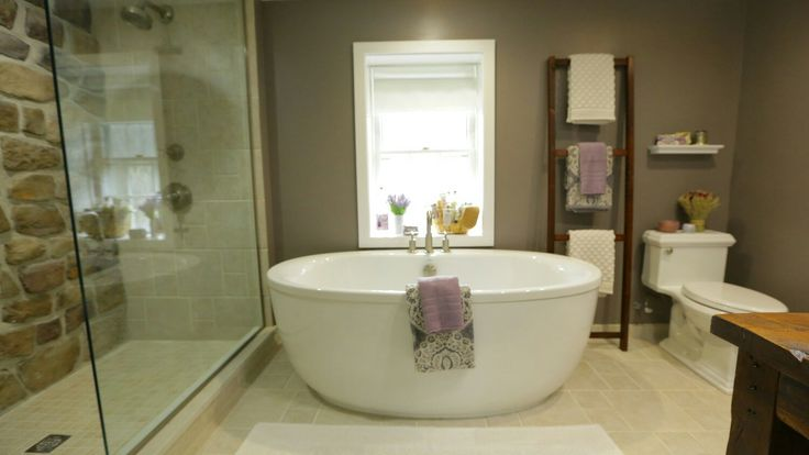 Stone House Revival on DIY Network with Jeff Devlin - Master Bath