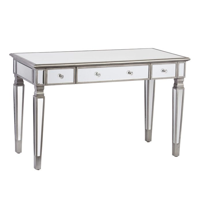 House of Hampton Wendi Mirrored Desk & Reviews | Wayfair