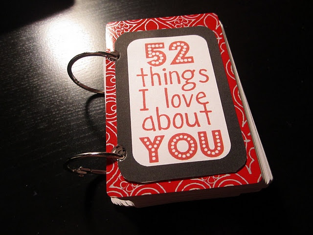 52 Things I love about you gift