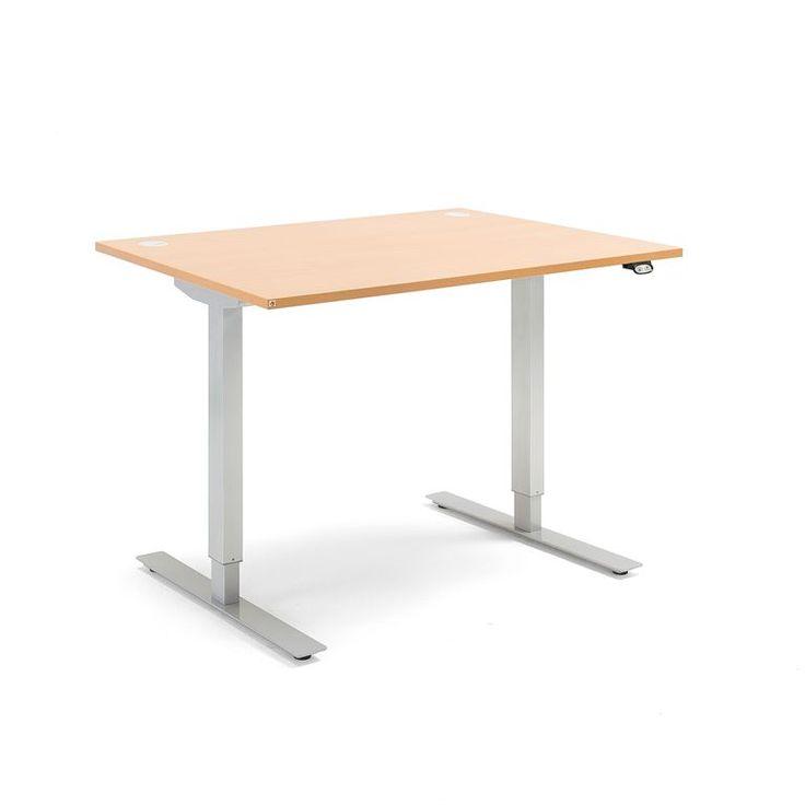 Skrivbord Flexus, höj och sänkbart, 1200x800 mm, boklaminat
