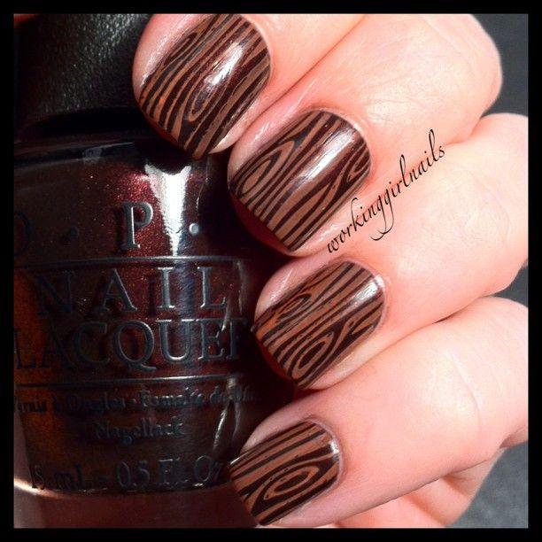 wood by   workinggirlnails #nail #nails #nailart