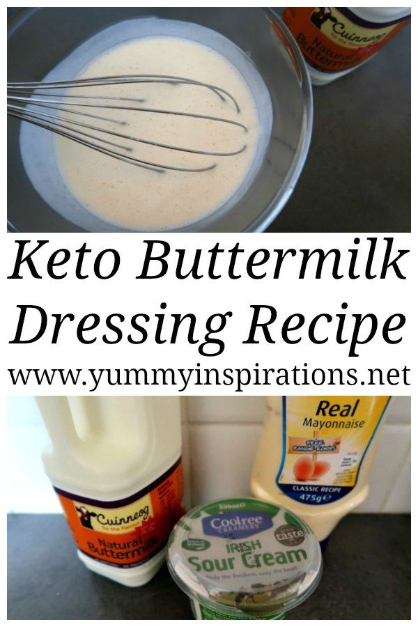 Easy Buttermilk Dressing Recipe Low Carb Keto Diet Salad Dressing Low Carb Salad Dressing Buttermilk Recipes Buttermilk Dressing