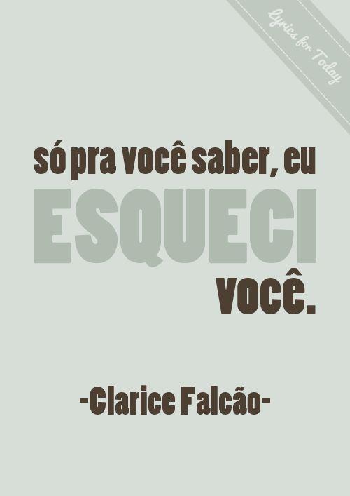 #Clarice #Falcão #esqueci