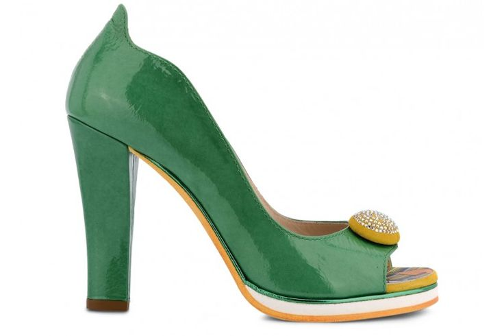 Shoes: F2393 REFLEX 6497 VERDE  #green #pumps #heels #shoes #summershoes #emerald #emeraldgreen @fabishoes