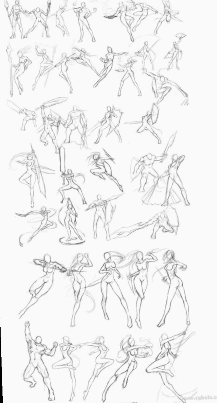 12 Anime Sketch Manga Action Poses Art Reference Poses Drawings Art Reference