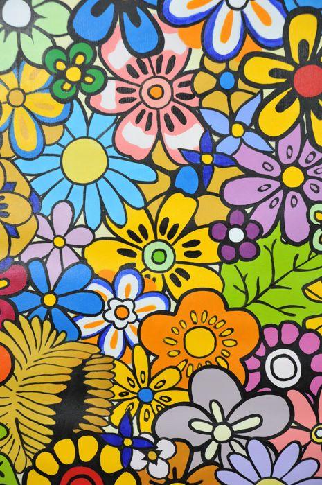 Onbekende artiest - Flower power  Kleurrijk schilderij op doek door een hedendaagse Chinese streetartist uit China.Goede conditieOlieverf op doekChinaAfmetingen: 92 x 92 cmProfessioneel zal worden verpakt en verzonden met UPS of kunnen afgehaald worden in Berlijn Duitsland.  EUR 1.00  Meer informatie