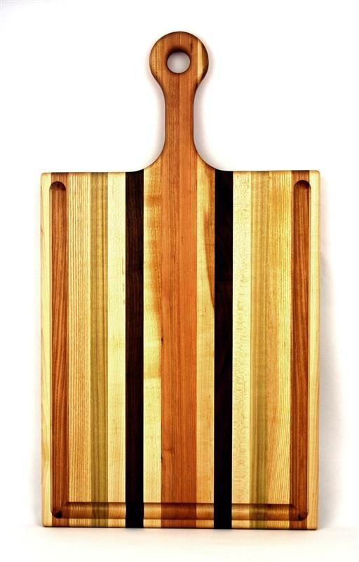 LARGE CUTTING BOARD WITH HANDLE AND GROOVE