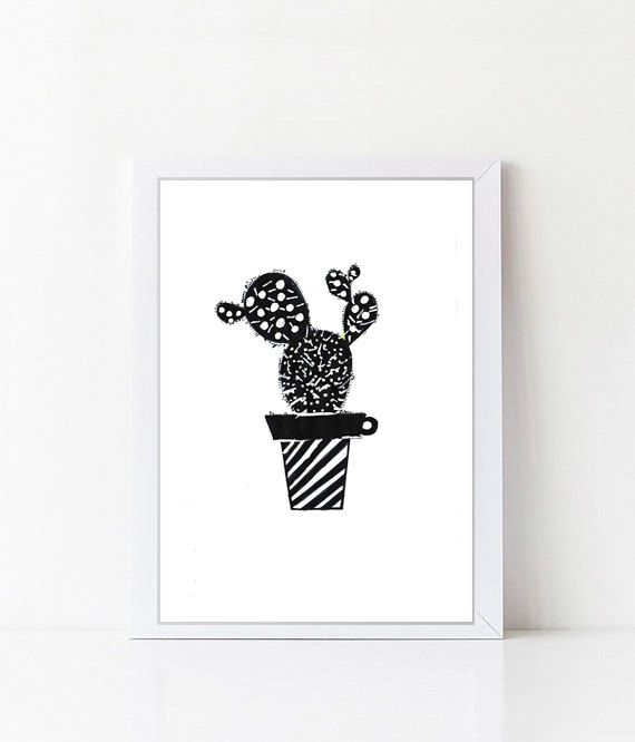 Kaktus / Plant Cactus Tropical Fine Art-Print by Digitallab