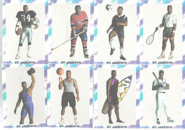 Bo Jackson 'Bo Knows' 10 Trading Card Oddball Promo Set Cards NFL MLB NHL NBA