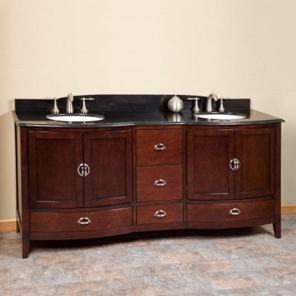 72 Gwenna Double Vanity 2 Undermount Sinks 8 Faucet