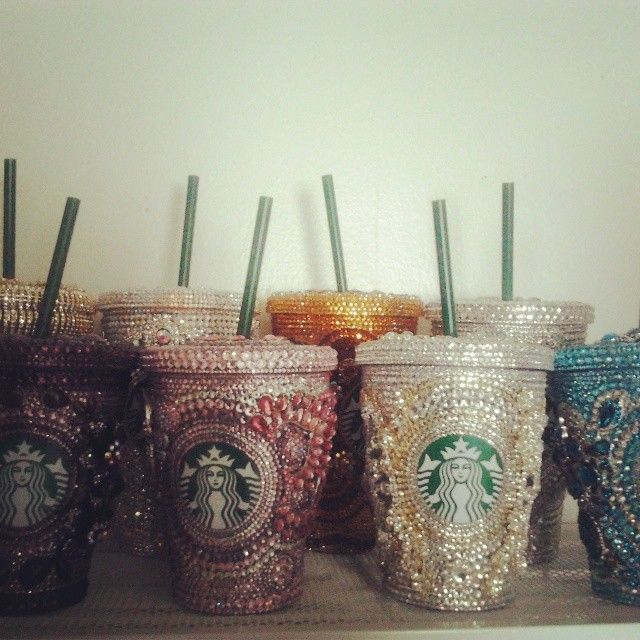 Custom Swarovski Starbucks Mugs :: http://marynabutenko.com/cups ::  All inquiries info::at::marynabutenko::dot::com