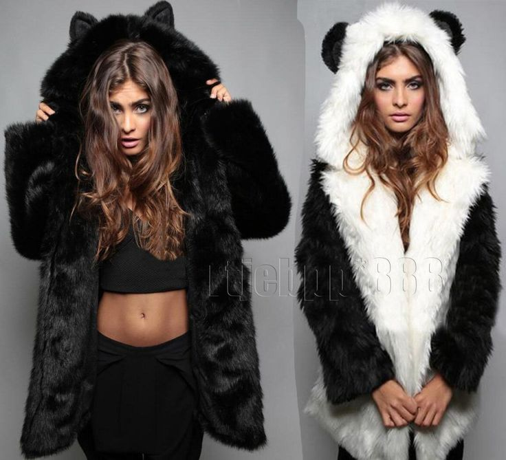 Womens Ladies Faux Fur Hooded Coat Long Parka Jacket Warm Outwear Fashion
