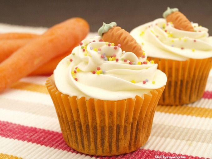 """Cupcakes """"Tarta de zanahoria"""" - MisThermorecetas"""