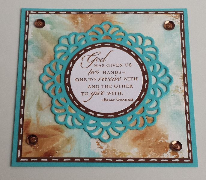 Plastic Wrap Background,Die-namics Doily Duo, Stampin up,  Trust god